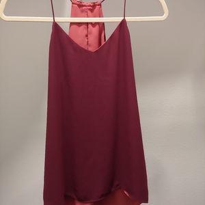 Express burgundy adorable top
